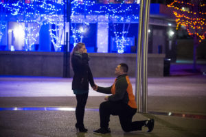 Marriage Proposal in Downtown Columbus