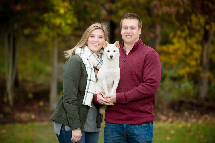 Outdoor Family Pictures with Dog