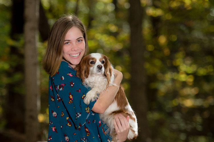 Worthington Senior Portrait with Dog